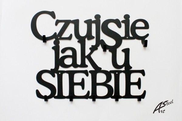 Wieszak na ubrania Czuj się jak u siebie. www.art-steel.pl