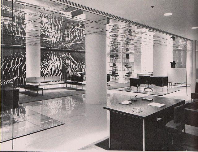 70s Interior Design. Steelcase Showroom, Chicagou0027s Merchandise Mart 1970s;  Interior By Warren Platner