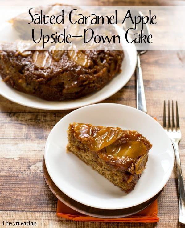 I make a lot of upside-down cakes and other simple one layer cakes like this Salted Caramel Apple Upside-Down Cake. They are easy to put together, taste great, and they're the perfect size for dessert our family. This cake is a whole wheat spice cake topped with a layer of soft baked apples and salted caramel sauce. Between the buttermilk, Greek yogurt, and olive oil, the cake is nice and moist without being too rich or greasy. The apples and warm spices make it the perfect Fall dessert (and…