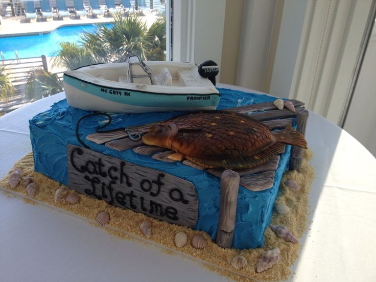 Fishing Groom's Cake