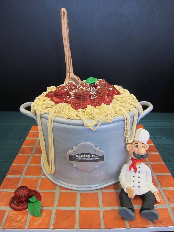 12 best images about spaghetti cakes on Pinterest Chef ...