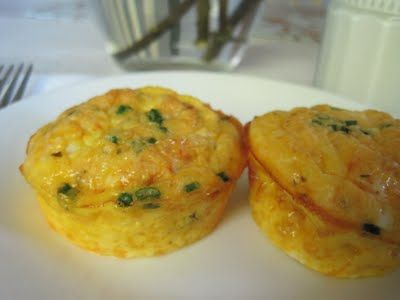 I made mine with jalepeno instead of chives.: Baking Eggs Cups, Baked Eggs, Eggs White, Scrambled Eggs, Sunday Baker, Cheddar Cheese, Breakfast Eggs Cups, Baked Egg Cups, Kids Food