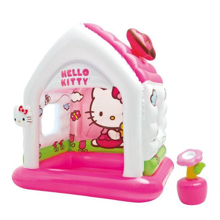 Intex Hello Kitty Kids Inflatable Indoor Playroom Fun Cottage Playhouse Toy #Intex