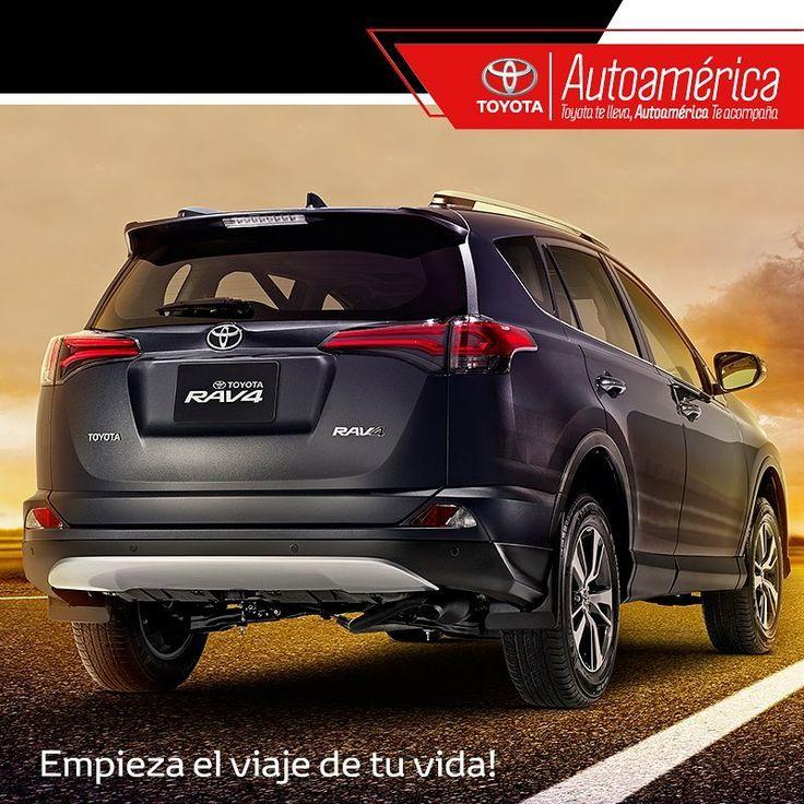 El #Rav 4 tiene la tecnología, el confort, y el espacio ideal para emprender tu aventura #Toyota por carretera. Ven y pruébala en #Autoamérica.