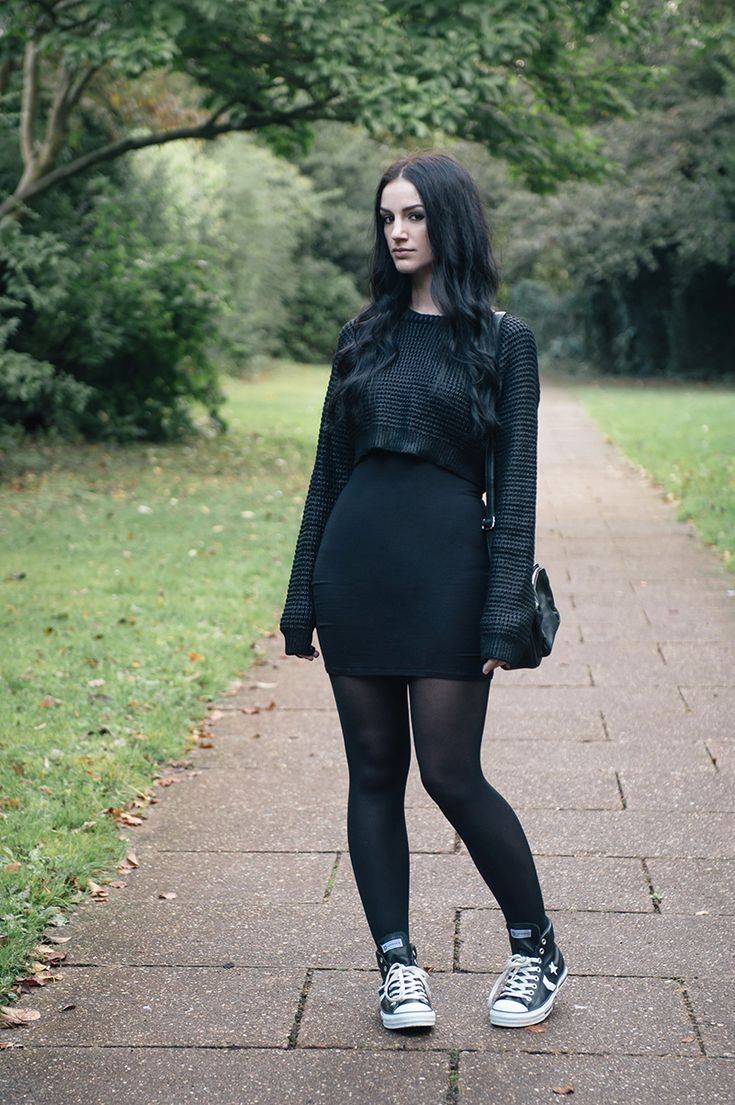 all black converse outfit - photo #19