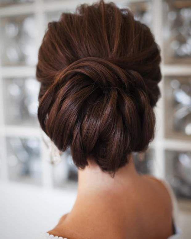 Coiffure de mariage pour cheveux longs  le chignon moderne