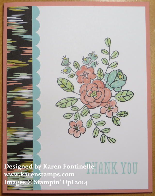 So Very Grateful Thank You Card using the new stamp set from the Stampin' Up! Occasions Catalog and designer paper from upcoming Sale-A-Bration!