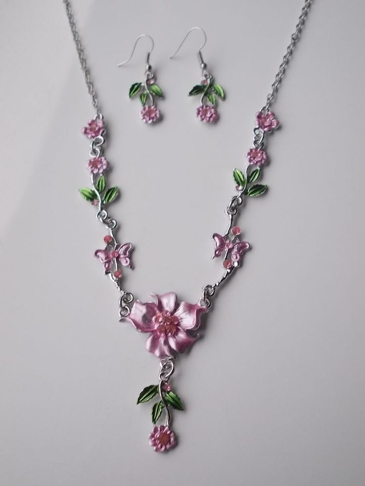 POST-XMAS SALE...Pink and Green Jewellery Set