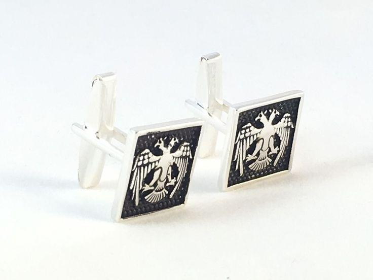 Turkish Handmade 925K Sterling Silver Square Men's Cufflinks | eBay