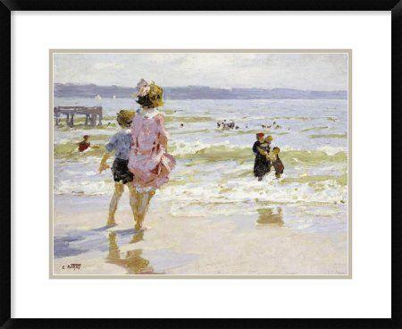 Edward Henry Potthast - At The Seashore - Art Print - Global Gallery