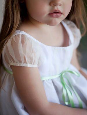 New york Bridal Fashion Week - designer flower girl dress silk organza Little Eglantine
