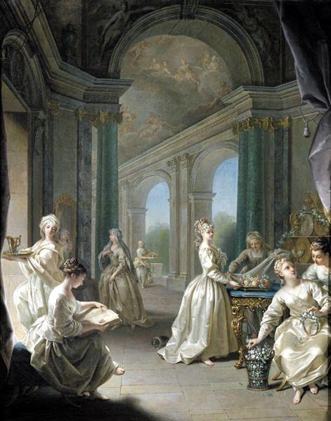 Jean Raoux - Modern Virgins (1728).