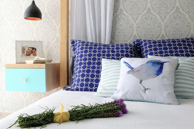 we love decorate !!  #bluecushions, #bluedecoration, #indigo #aqua