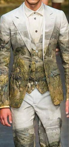 Evocative of Alexander McQueen garments I saw in the V&A Fashion Gallery (and talked about in my July - Enchanted by Sewing podcast) Dolce-Gabbana - Milan Fashion Week Spring Summer 2014-MEN'S