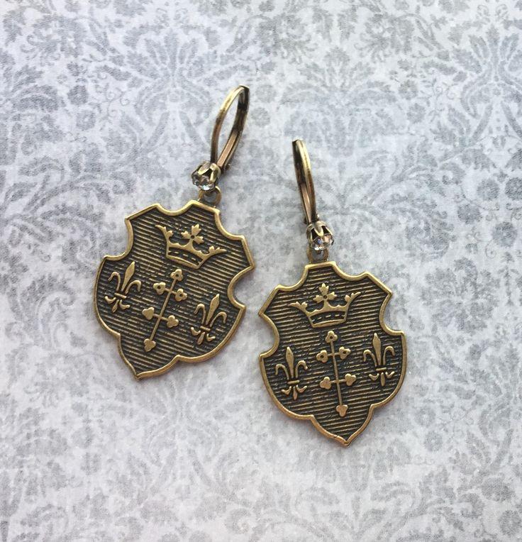 Heraldic Earrings by Silver Trumpet Jewelry on Etsy