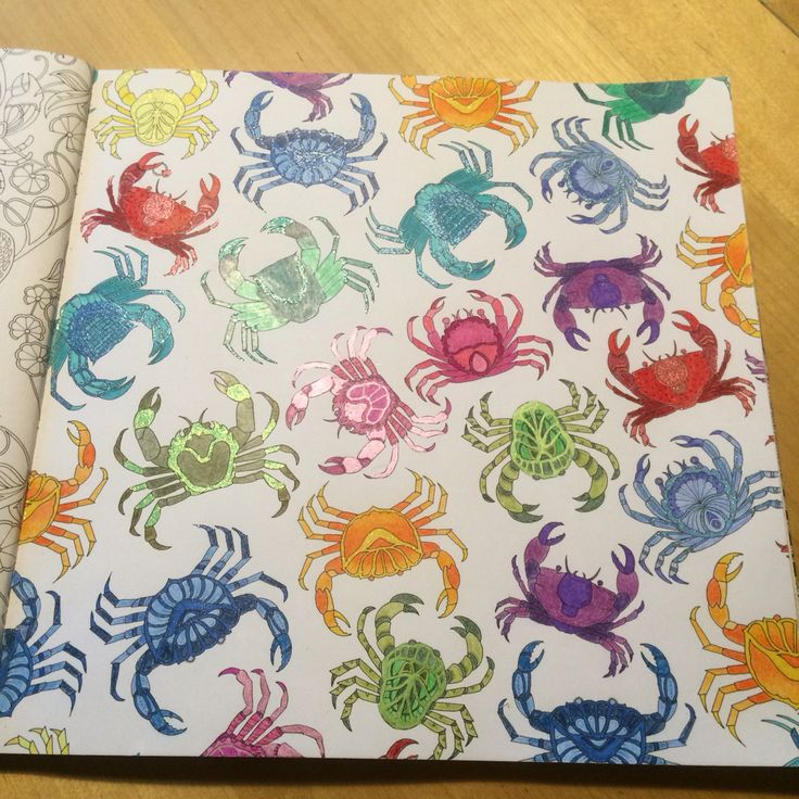 Crabs from Johanna Basford Lost Ocean