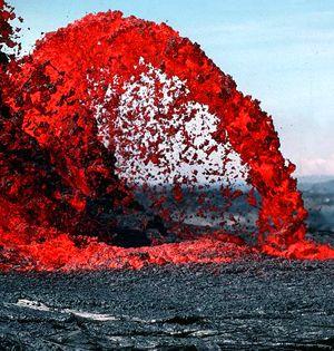Volcanic belch