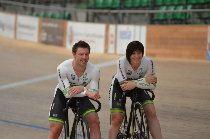 Anna and Shane posing for the media.  Photo by Mal Matthews.