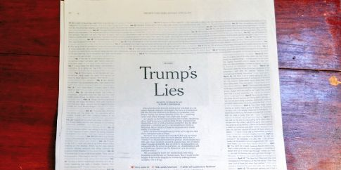 Donald Trump has lied on a regular basis since he became president.
