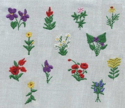 Simple Hand Embroidery Flowers