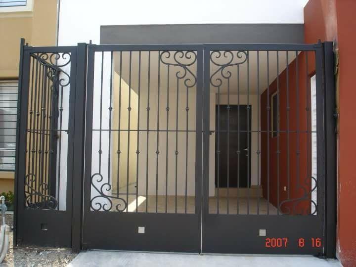 Image Result For Rejas De Herreria Para Cochera Portones Modernos Para Casas Puertas De Garaje Modernas Diseno De Porton Principal