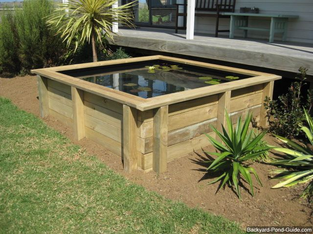 Gardens ponds and above ground pond on pinterest for Above ground fish pond designs