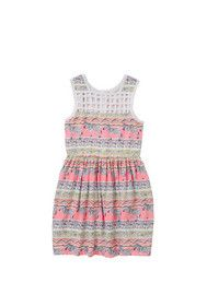 Pumpkin Patch Zebra Print Dress