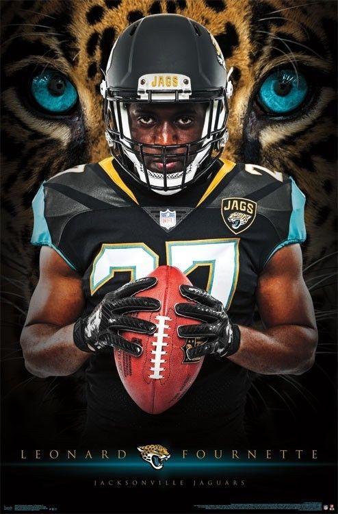 8 09 Leonard Fournette Jacksonville Jaguars Rookie 2017 Nfl Football Action Poster Ebay Collectibles