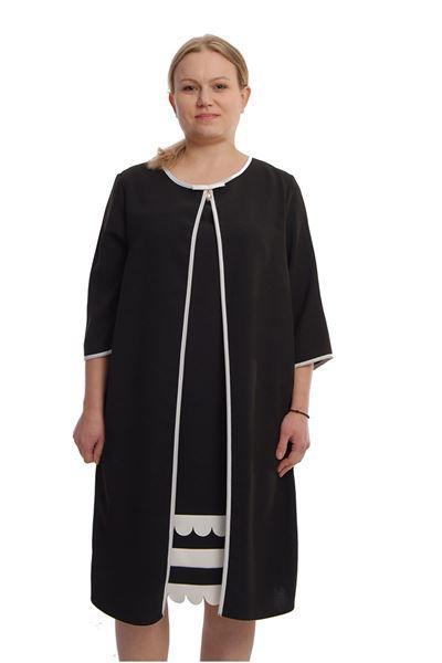 resm Siyah Büyük Beden Elbise L10-65897