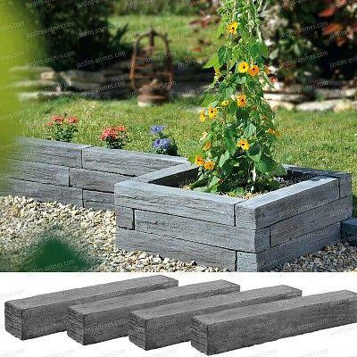 Bordurettes à assembler pour composer bordure, bacs jardinières ... en pierre imitation ardoise. http://fr.jardins-animes.com/bordure-pierre-reconstituee-imitation-ardoise-lot-p-2579.html