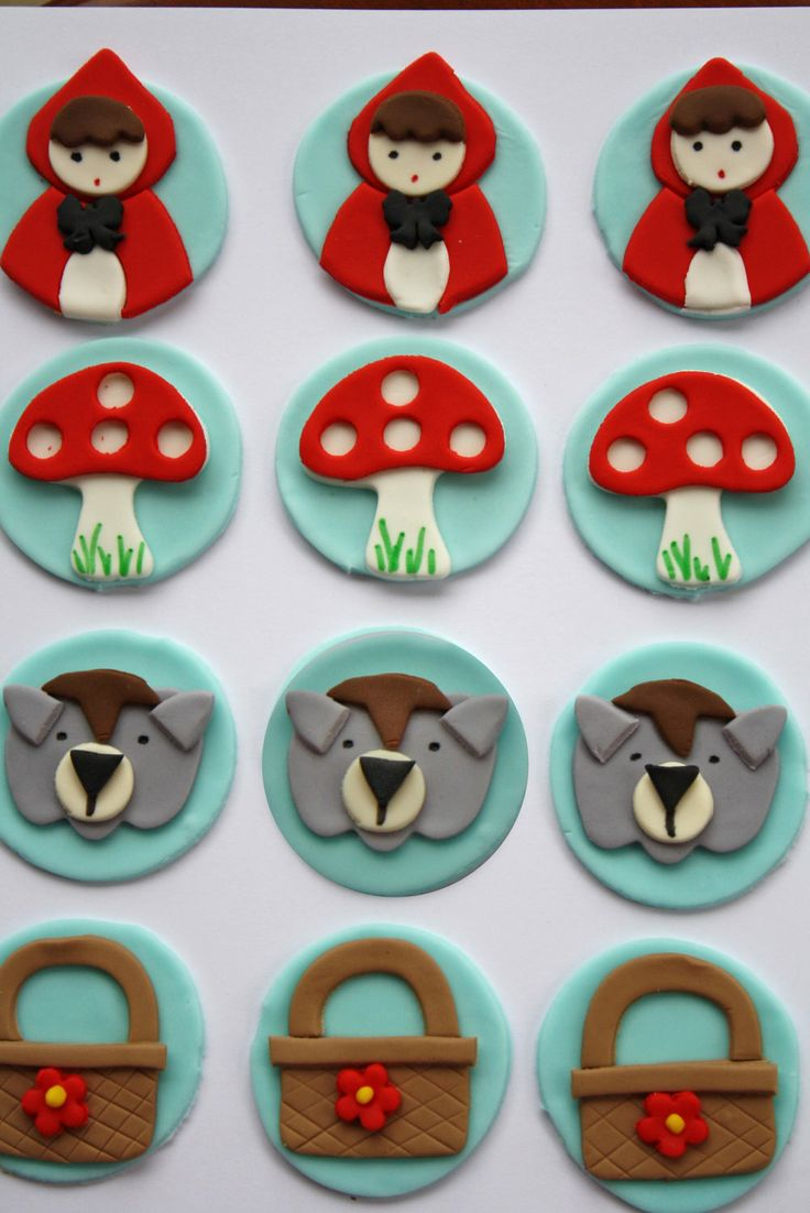 Little Red Riding Hood Fondant Cupcake by Clementinescupcakes, $22.95