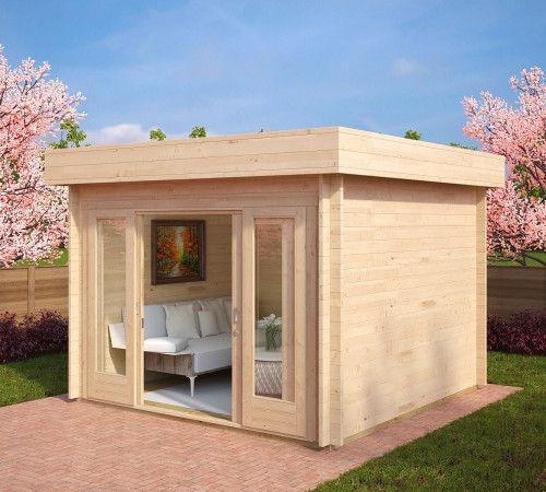 Modernes Gartenhaus Mit Schiebetür Lucas E