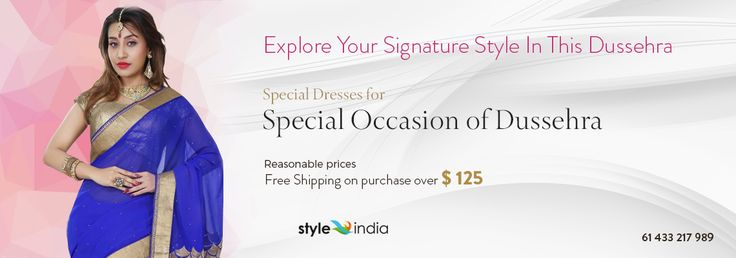 Explore Your #Signature #Style In This Dussehra  Special #Dresses for Special #Occasion of #Dussehra #Reasonable #prices Free #Shipping on #purchase over $ 125  We at #Styleindia Wishes you all a Very #Happy #Dussehra