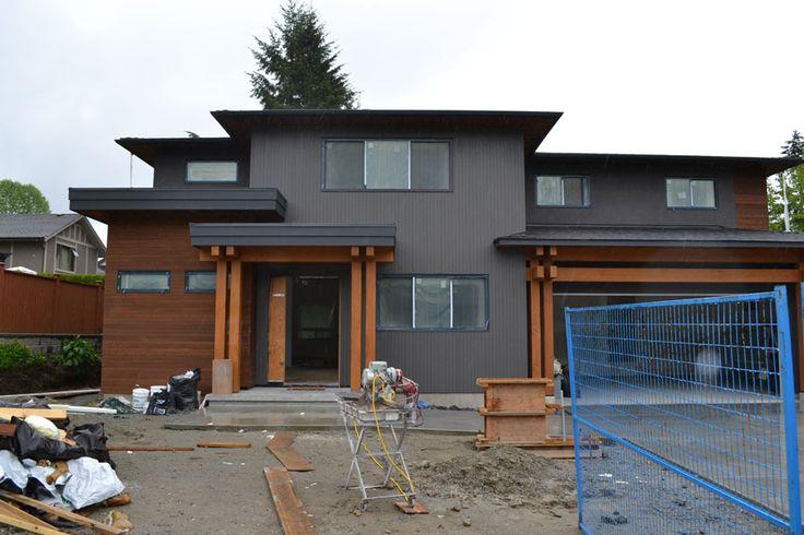 Burnaby Custom Timber Frame Project Exterior House Colors Cedar Homes