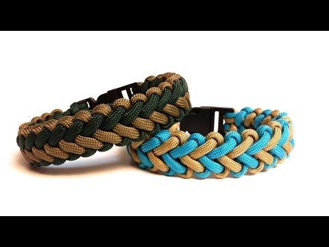 How to tie the Intertwined Half Hitch 550 paracord bar bracelet - Part 1 -- eXtremePara.com - YouTube