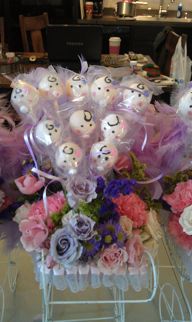 Cake Pop Centerpieces For Baby Shower : Best 25+ Cake pop centerpiece ideas on Pinterest Cake ...