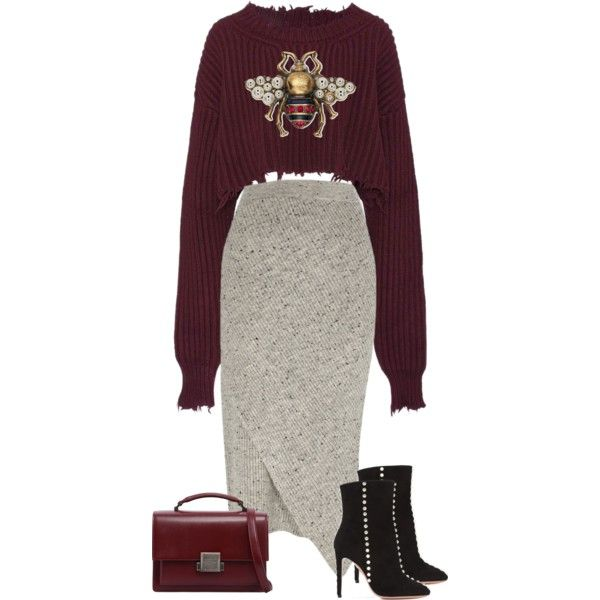 A fashion look from September 2017 featuring Unravel sweaters, River Island skirts and Aquazzura ankle booties. Browse and shop related looks.