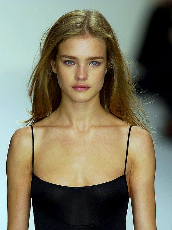 No make up make up • Natalia Vodianova, Calvin Klein Spring 2003
