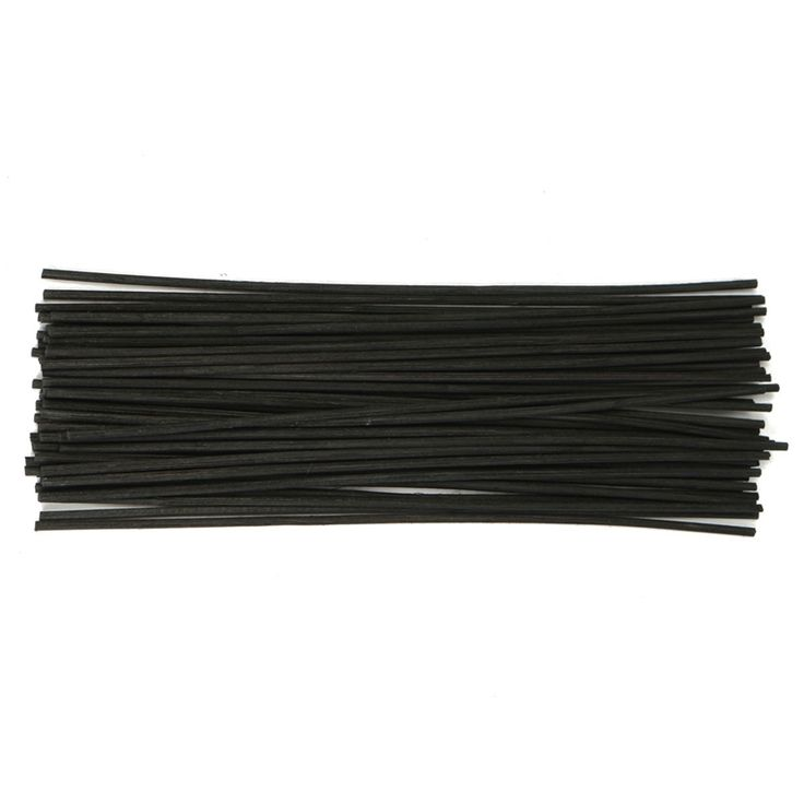 50Pcs/pack Black Rattan Reed Fragrance Oil Diffuser Replacement Refill Sticks Party Home Bedroom Bathrooms Decor Gifts 250x3mm