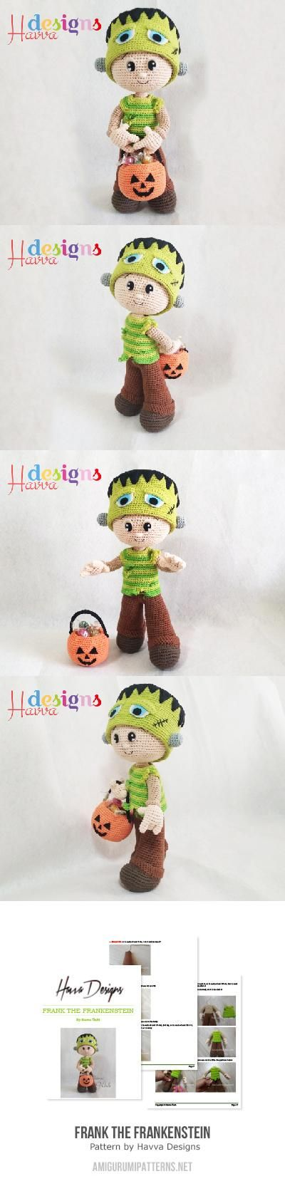 Frank the Frankenstein amigurumi pattern by Havva Designs