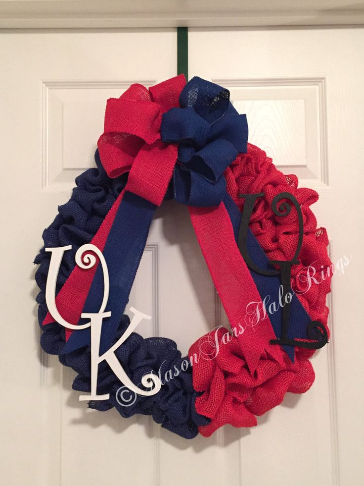 House Divided Wreath, House Divided, University of Kentucky, University of Louisville, Other teams available - pinned by pin4etsy.com