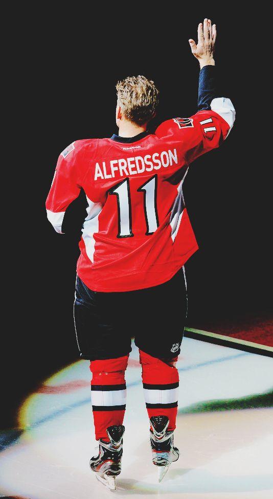 Daniel Alfredsson's last skate with the Ottawa Senators