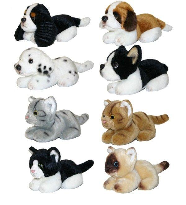 plyšoví psi a kočky 15 cm se zvukem,8 dr - Plyšové hračky - Kategorie