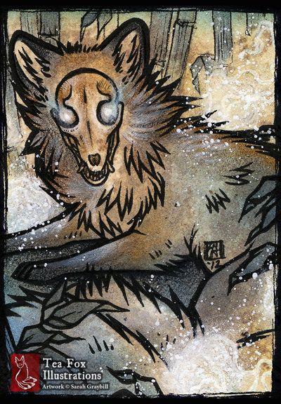 Skull Fox [Commission] by ~sarah-grey on deviantART