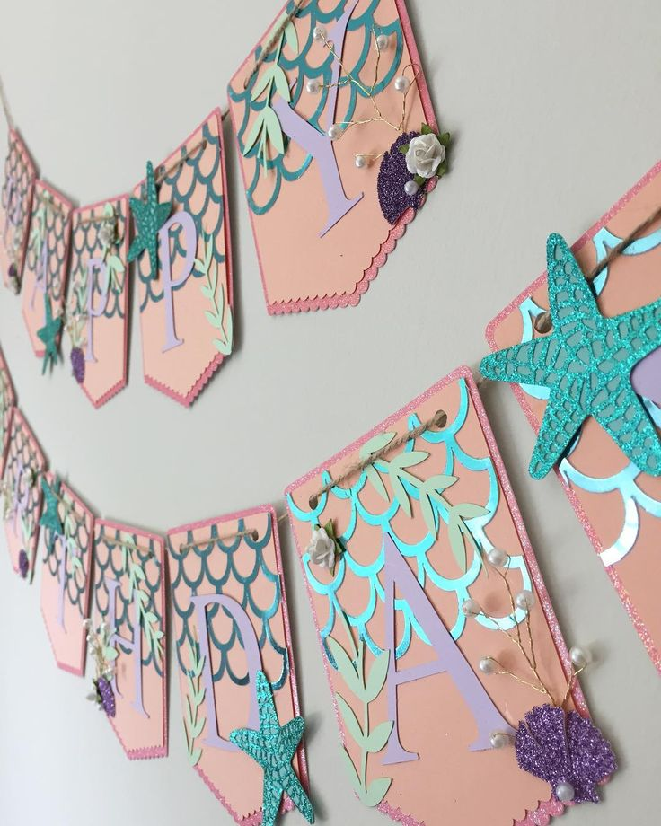 Mermaid dreaming in a new color story... shades of corals and lavender with a splash of emerald for this happy birthday banner! #etsy #poppiesandpapershop #mermaidparty #mermaid #mermaidlife #happybirthdaybanner #firstbirthdayparty #undertheseaparty #undertheseabanner