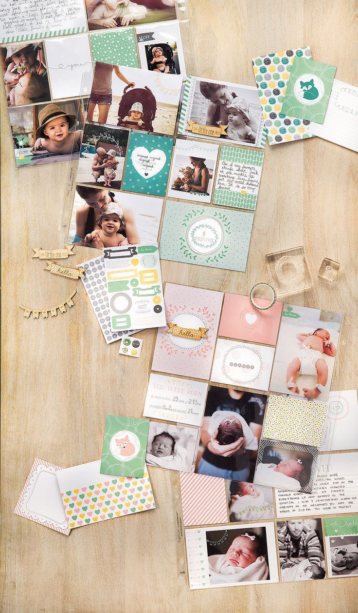 Easy baby scrapbook ideas - Hello Baby Project Life Kit By Stampin Up