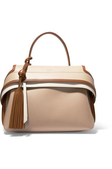 Beige, tan and cream leather Zip-fastening front flap Comes with dust bag Weighs approximately 4lbs/ 1.8kg Made in Italy