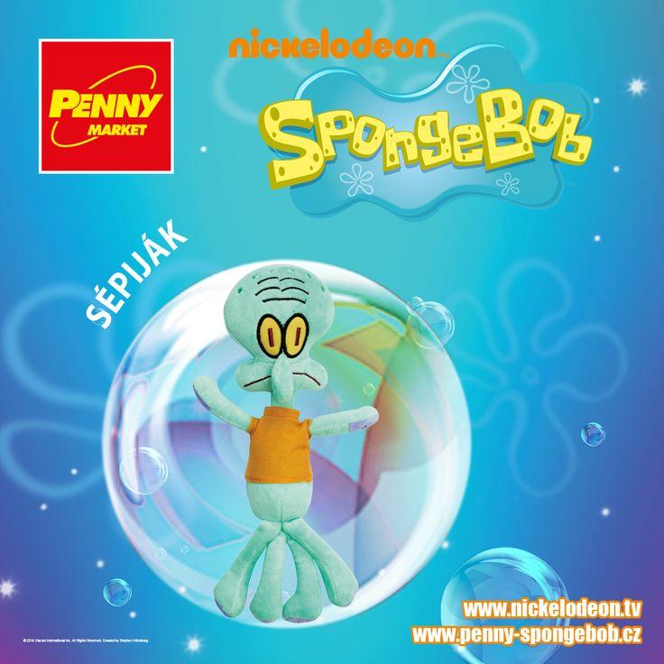 Sépiják sousedí se SpongeBobem a Patrikem, kteří ho nemají moc rádi. Ani Sépiják není ze SpongeBoba nadšený, jelikož s ním většinou prohraje v soutěži o nejlepšího kuchaře.   Sbírejte známky za nákupy v Penny a získejte plyšového Sépijáka! Za každých 200 Kč nákupu dostanete 1 známku. Více informací o známkách a cenách SpongeBoba a jeho kamarádů najdete na www.penny-spongebob.cz.