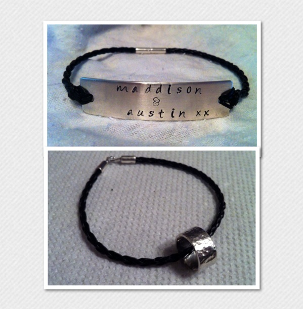 Sterling Silver Plaque/ Secret Message Ring Bracelet (Personalised) - The Supermums Craft Fair