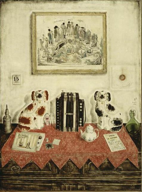 Artist: Leonard Foujita My Paris Interior 1922